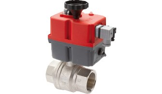 Electrically actuated ball valves