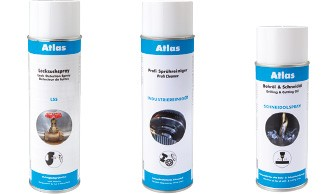 Atlas sprays - adhesives and sealing compounds - pastes - cleaners
